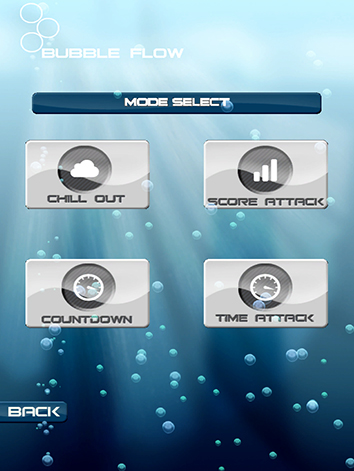 Bubble Flow Main Menu